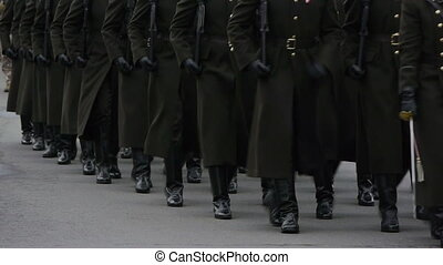 hd, -, wojskowy, parade., wojsko