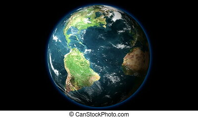 HD1080 - Planet Earth rotates on BG