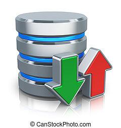 hdd, concept, reservekopie, databank