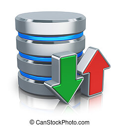 hdd, concetto, backup, database