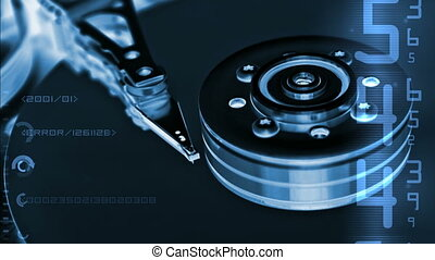 HDD data - Changing digits over HDD internals (seamless...