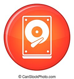 HDD icon, flat style