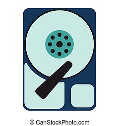 HDD icon. Flat Vector illustration on white background.