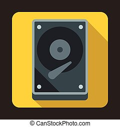 HDD icon icon, flat style