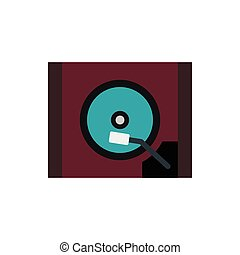 HDD icon in flat style