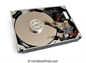 hdd of computer isolated on white