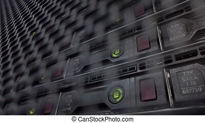 HDD rack is located behind the iron door of the data center...