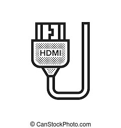 HDMI Adapter icon Dotted Style