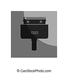 hdmi cable video connection vector illustration design