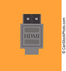 HDMI Connector Vector Illustration