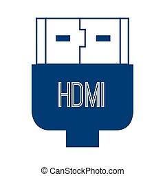 hdmi plug connection transfer technology high definition...