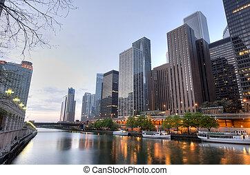 hdr, 在中, 芝加哥