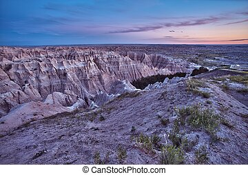 HDR Badlands Scenic