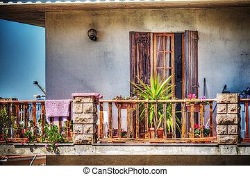 hdr, coloré, terrasse