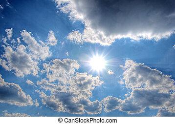 sun in the cloud sky
