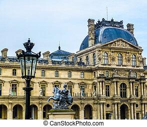 Louvre paris  The musee du louvre (louvre museum) in paris
