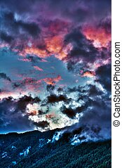 HDR Mountain Sunset