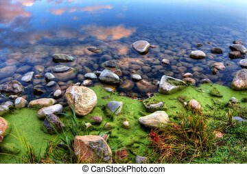 HDR of a Rocky River Bank