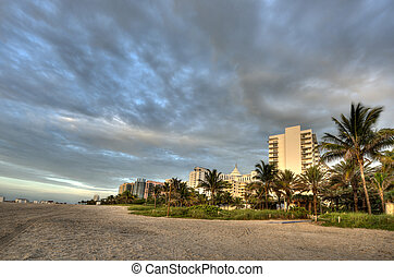 HDR of Beach in Miami