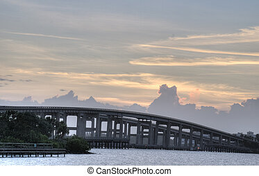 HDR of Causeway in Cocoa, Florida