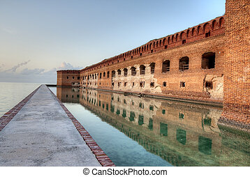 HDR of Fort Jefferson at Sunset.
