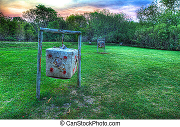 HDR of moving archery targets