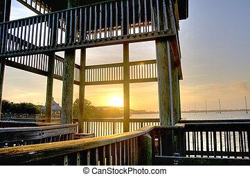 HDR of Sunrise in Cocoa, Florida