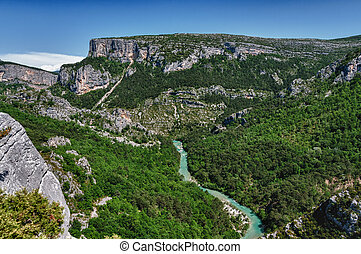 verdon gorge - hdr of verdon gorge