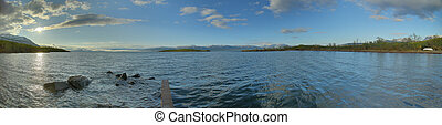 HDR Panorama of Lake Tornetrask at Abisko in Sweden