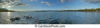 HDR Panorama of Lake Tornetrask at Abisko in Sweden