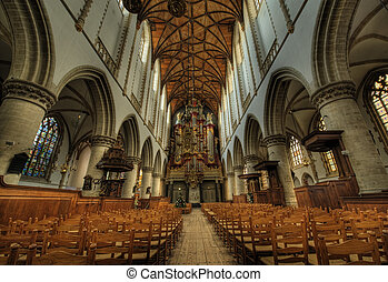 """inside church - Hdr photo inside church (St bavo or """"grote ..."""
