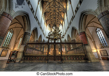 """inside church - Hdr photo inside church (St bavo or \""""grote..."""