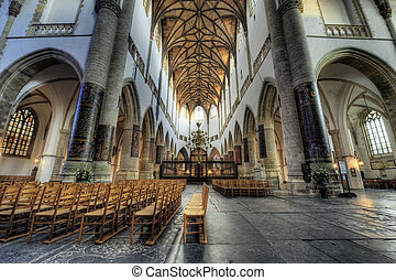 "inside church - Hdr photo inside church (St bavo or ""grote ..."