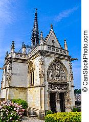 HDR Saint Hubert chapel at Royal Chateau at Amboise