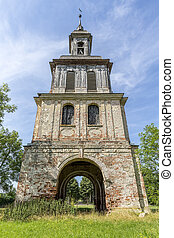 HDR shot of an ancient castle tower in Remplin, Germany