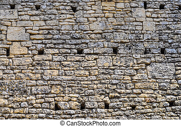 HDR Stone wall background