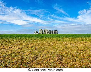 HDR Stonehenge monument in Amesbury - HDR Ruins of...