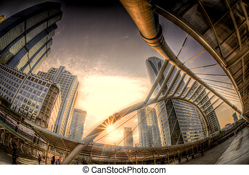 HDR sunset at Chong Nontri Sathorn