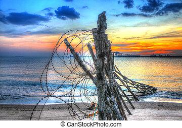 HDR-sunset near the beach