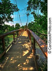 HDR Suspension Bridge - HDR Photo of a Suspension Bridge...