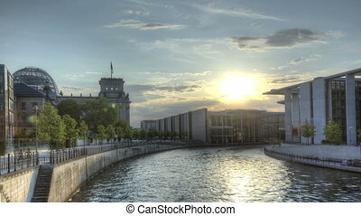 HDR Timelapse Berlin Spree - HDR Timelapse of the Reichstag...