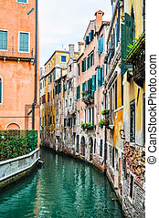 HDR Venice - High dynamic range (HDR) View of the town of...