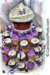HDR Wedding Cake - Purple and White Chocolate  Cupcakes
