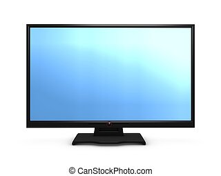3d image, conceptual fictional Hi-definition widescreen Tv