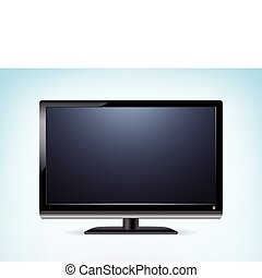hdtv, vecteur, moniteur, widescreen