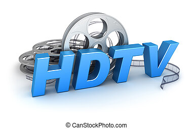 HDTV Video. Concept icon