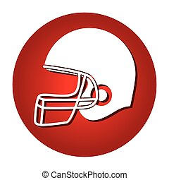 hełm, amerykańska piłka nożna, ikona