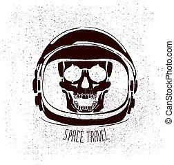 hełm, astronauta, zmarły