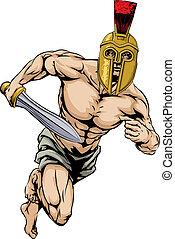 hełm, wojownik, trojański