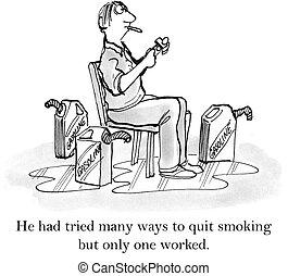 He had tried many ways to quit smoking - Man has tried ...